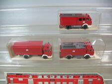 H226-0,5# 3x WIKING H0 Mercedes MB 1617, TLF 24/50, Löschgruppenfahrz., NEUW+OVP