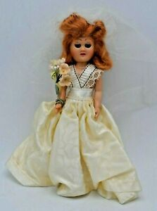 Hard-Plastic-Bride-Doll-7-034-Sleepy-Eyes