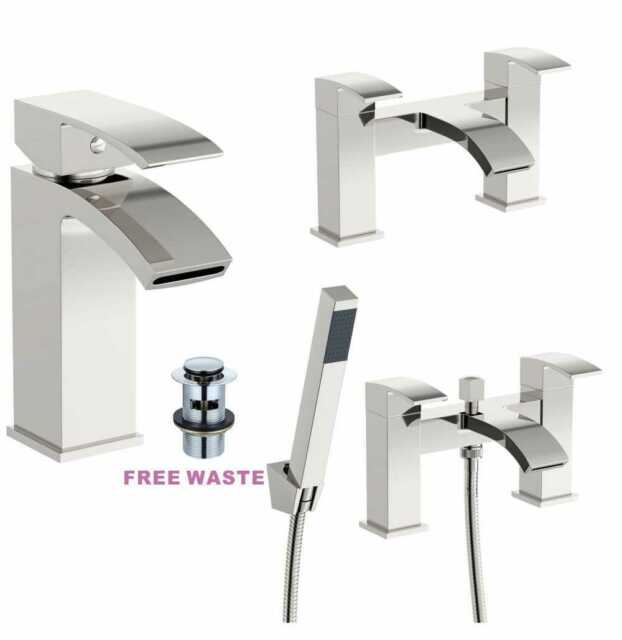 Tapmate Designer Collection Rhea Pair Bathroom Basin Taps Chrome Plated Finish For Sale Ebay