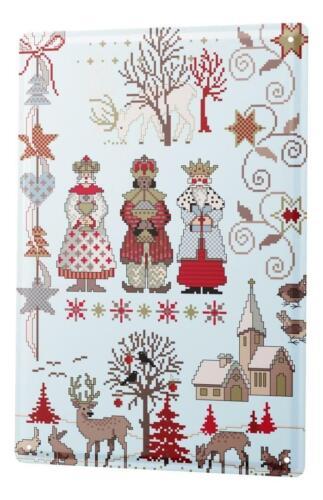 Lindner Design Tin sign Christmas decoration three kings Wall metal plate 8x12