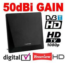 Active Digital Indoor TV Antenna Aerial 50dBi with 4G Filter Freeview HD 1080