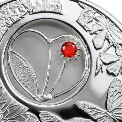 2017 Niue 1 oz Filigree Heart Love Coin