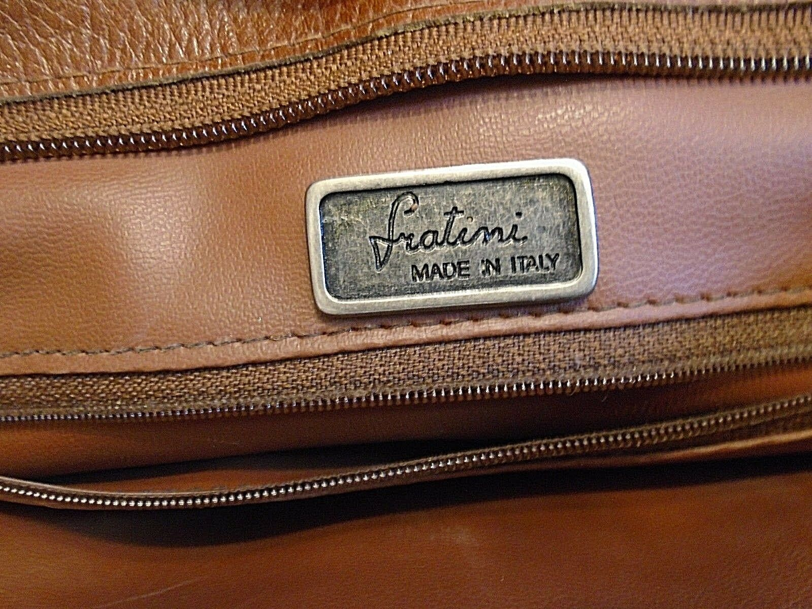 Vintage Fratini women's brown  leather Tote handb… - image 3