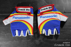 Raleigh Panasonic Road Cycling Team Half Finger Mitts Gloves (eddy merckx)