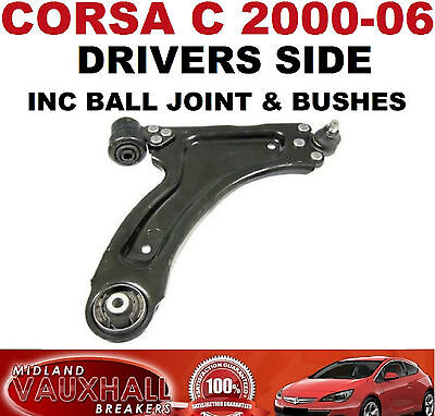 VAUXHALL CORSA C 1.0 1.2 SXI FRONT 2 SUSPENSION LOWER WISHBONE ARMS /& HD LINKS