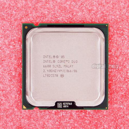 Intel Core 2 Duo E6600 2.4 GHz Dual-Core CPU Processor SL9ZL SL9S8 LGA 775 4 MB
