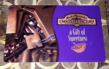 ROCKY MOUNTAIN CHOCOLATE FACTORY GIFT CARD NO VALUE COLLECTIBLE NEW