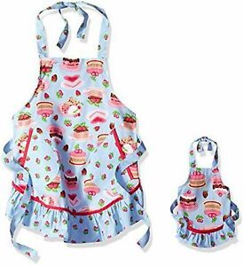 "Dollie & Me Girls Sweet Desserts Cakes Apron Set 2 pockets 18""x23"" fits 18"" doll"