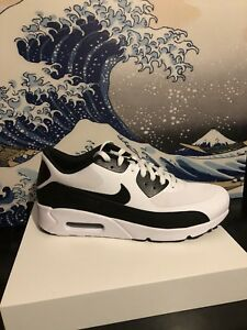 Details about Nike Air Max 90 Ultra Essential 2.0 White Black 875695 100 Mens 8 13