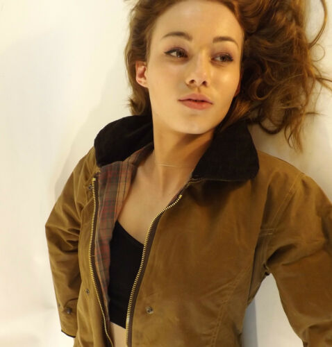 Wax Jacket New Women/'s Made In England Fitted Coat Jacket Tan XS S M L XL