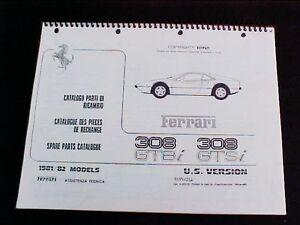 Details about Ferrari 308 Spare Parts Catalogue Manual Book GTBi GTSi US  Version 81-82 Reprint