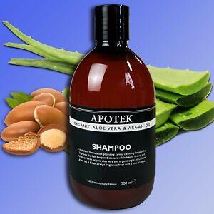 Apotek-Organique-Aloe-Vera-amp-Argan-Huile-Shampooing-500ml-Bio-et-D-039-Argan