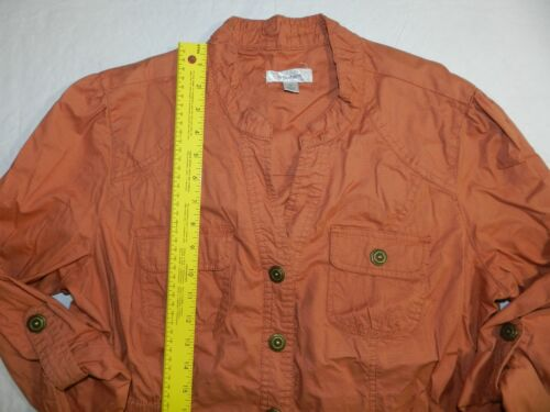 Blazer Womens Dressbarn Orange Ba15 Xl Shirt Jacket Size P6qwp6
