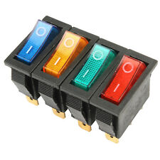 Twidec//10Pcs AC 6A//250V 10A//125V SPST 2 Pins 2 Position ON//Off Car Boat Square Black Rocker Switch Toggle with Pre-soldered Wires(Quality Assurance for 1 Years)KCD1-3-101-X