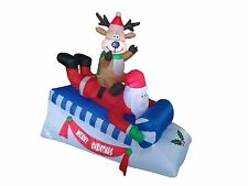 Christmas Inflatable Santa Reindeer Deer Moose Sleigh Sled Outdoor Decoration