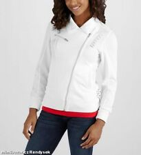NWT PUMA FERRARI WOMENS SIDE ZIP VINTAGE TRACK JACKET WHITE LARGE $90 FREE SHIP