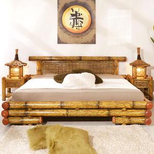 Bambusbett 200x200 Tioman Bettgestell Uberlange Bettrahmen Holzbett