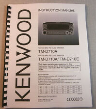 Kenwood TM-D710A/E Instruction Manual - Card Stock Covers & 28 LB Paper!