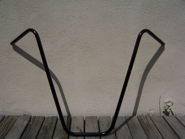 "BICYCLE BLACK APEHANGER HANDLEBAR 25/"" BEACH CRUISER CHOPPER LOWRIDER BMX MTB"