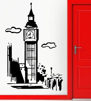 Big Ben London Wall Window Vinyl Stickers Decals Vinyl Home Decor Colourful A144