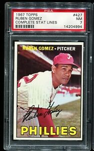 1967-Topps-Baseball-427-RUBEN-GOMEZ-Philadelphia-Phillies-PSA-7-NM