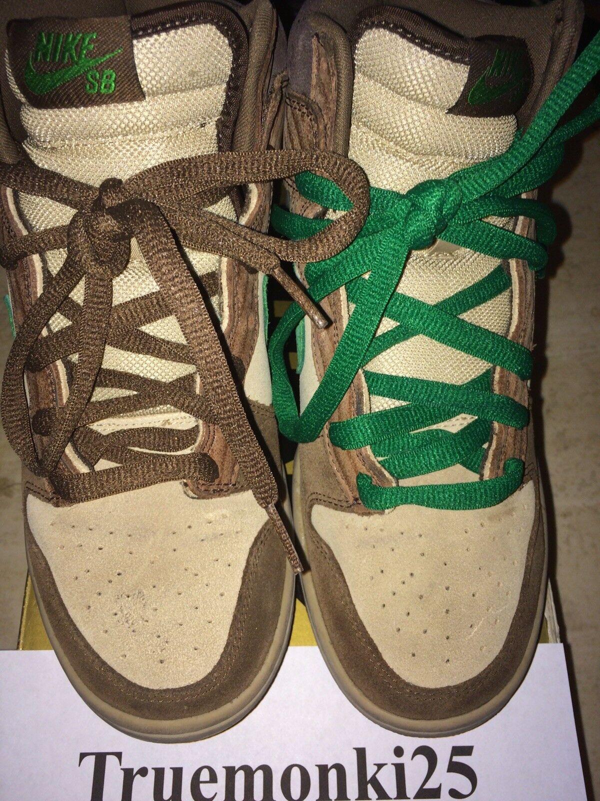 Nike SB Dunk Hi Deck Size 6.5 Sneakers Shoes Gold Box Skate Boarding