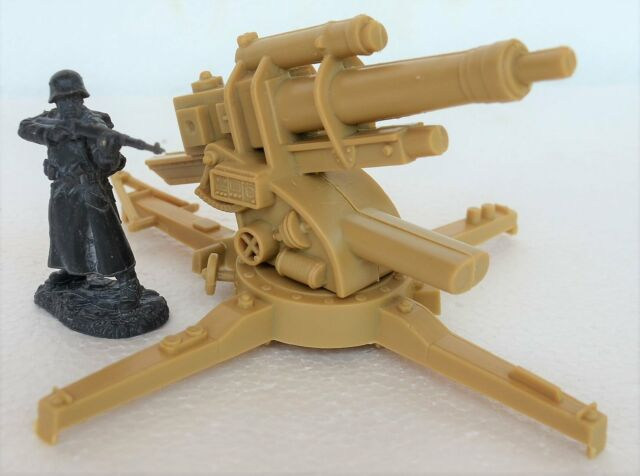 CTS//Marx WWII German Flak36//37 88MM Cannon 1//32-35 scale 54MM USED