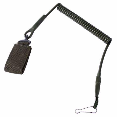 Tactical Elastic Handgun Pistol Lanyard Hand Gun Sling Secure Spring for Molle