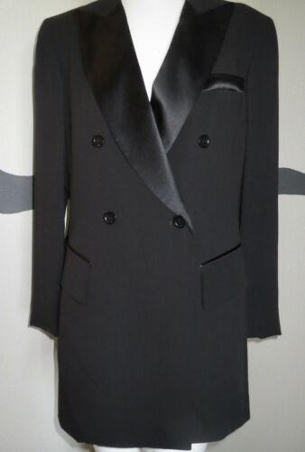 1980s Emanuel Ungaro Tuxedo Jacket Black + Satin