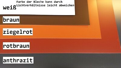 Braun Rot 2m² Alu,alublech,aluminium Anthrazit Weiß Ziegelrot... SpäTester Style-Online-Verkauf Von 2019 50%