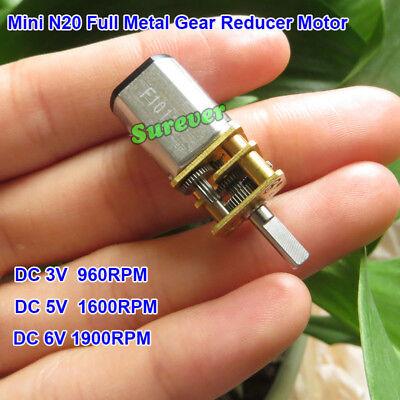 Micro Mini N20 Full Metal Gearbox Gear Motor DC3V 3.7V 5V 6V 90RPM DIY Car Robot