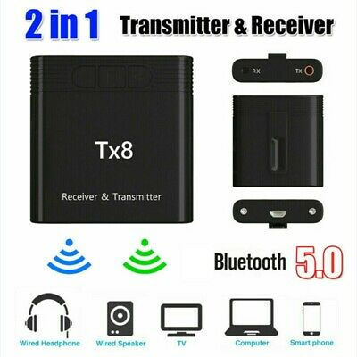 TX8 2 in1 Bluetooth 5.0 Transmitter Receiver Adapter For TV//PC Speaker Headphone