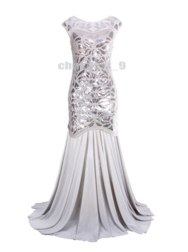 Prom Gown 1920s Flapper Dress Party Long Evening Great Gatsby Bridesmaid Dresses