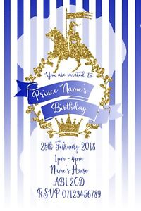 Prince-Party-Personalised-Invitations-and-Envelopes-x-10