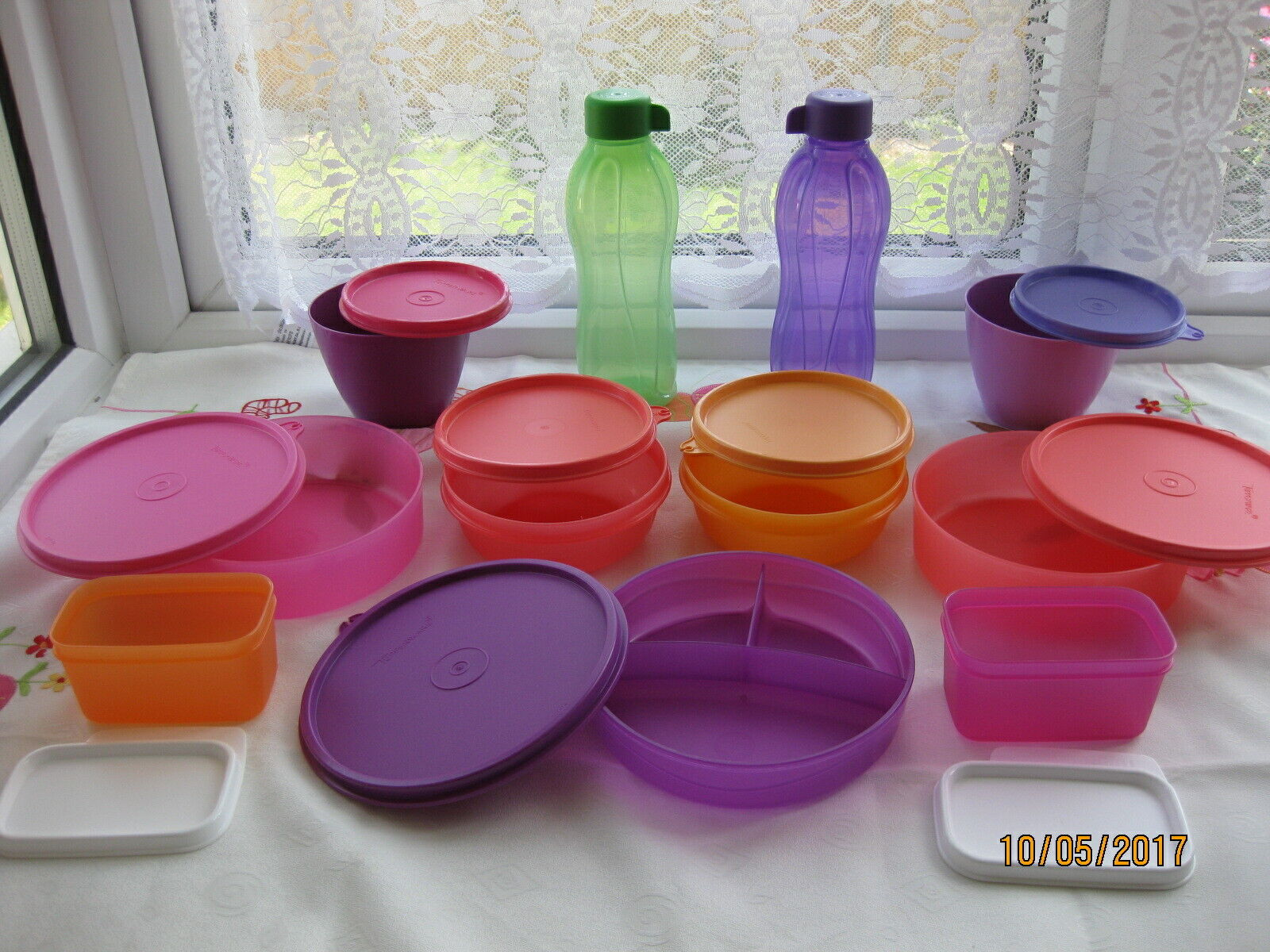 New Tupperware Jumbo 13 items Cook Store Carry Set Jar Bottle Divided dish Pur