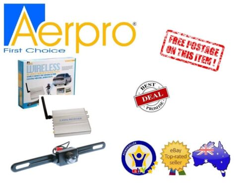 AERPRO ARV2REC UNIVERSAL WIRELESS REVERSE REAR CAMERA NUMBER PLATE MOUNT NEW
