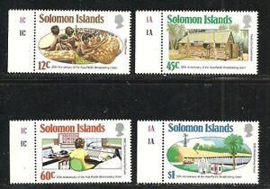 Album-Treasures-Solomon-Islands-Scott-526-529-Broadcasting-Union-MNH
