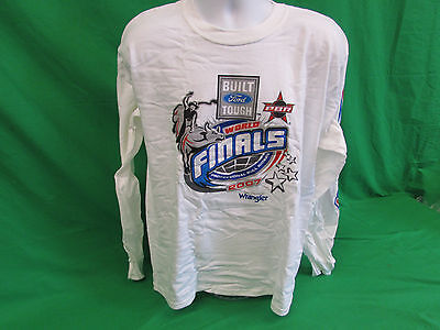 PBR Professional Bull Riding Distressed front Navy T-shirt Size Large
