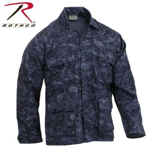 Rothco Midnight Digital Camo BDU Shirt Men/'s Long Sleeve BDU Camo Shirt//Jacket