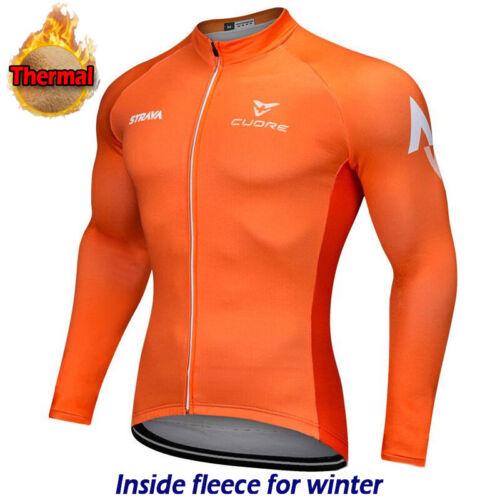 Thermal Cycling Jersey Jacket Bike Wear Motocross MTB Winter Long Shirt Top Warm