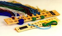 Wooden Lg. Yarn Stick Palette By Sudberry House For Needlepoint Fiber Storage
