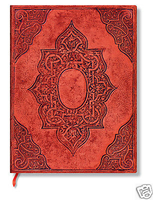 Paperblanks Blank Lined Writing Journal Fortuna Red Ultra Size 7X9 NWT