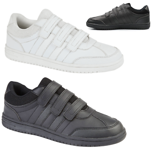 Mens-Touch-Fasten-Shoes-Mens-Touch-Fastening-Trainers-Sneakers-Pumps-Casual-Size
