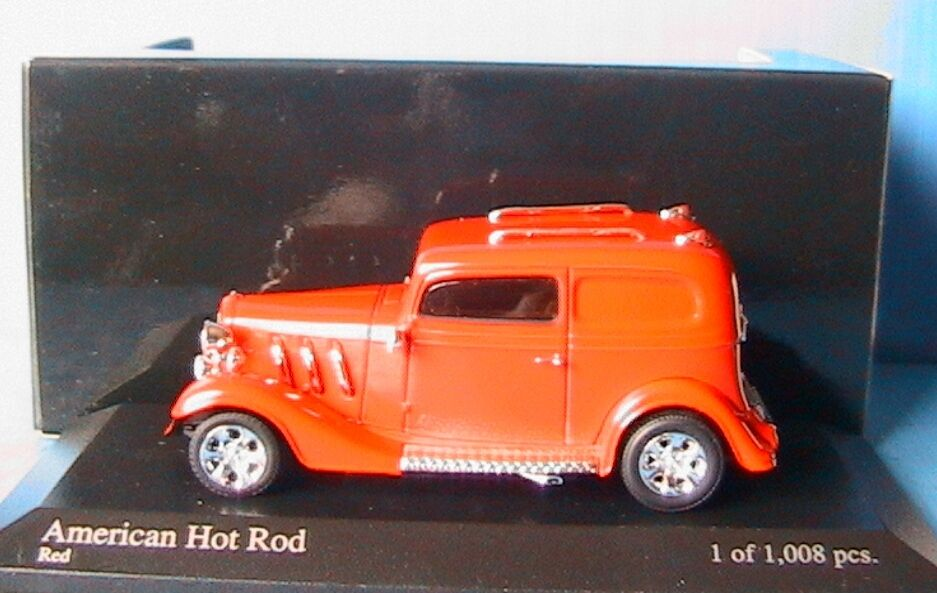 AMERICAN HOT HOT HOT ROD red RED red MINICHAMPS 400 142264 scale 1 43 modelcar 6ef23a