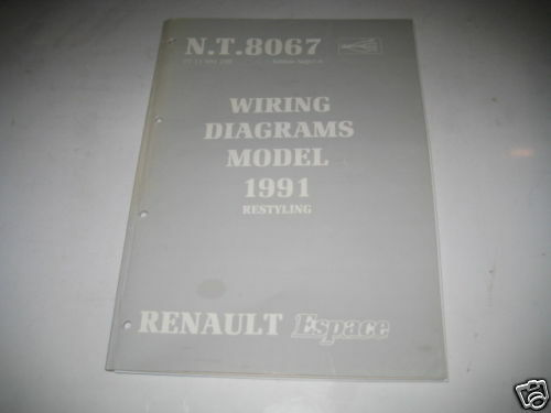 Wiring Diagrams Renault Espace  Stand 1991