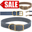 Ancol-Dog-Collar-Timberwolf-Leather-Puppy-Collar-Sable-Brown-Blue thumbnail 1
