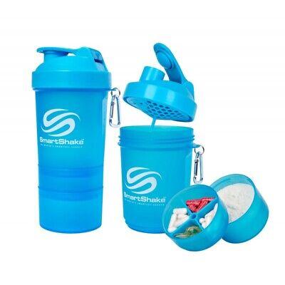 SmartShake Original 2GO Shaker extra Pulver 800 ml und Tablettenfach 600 ml