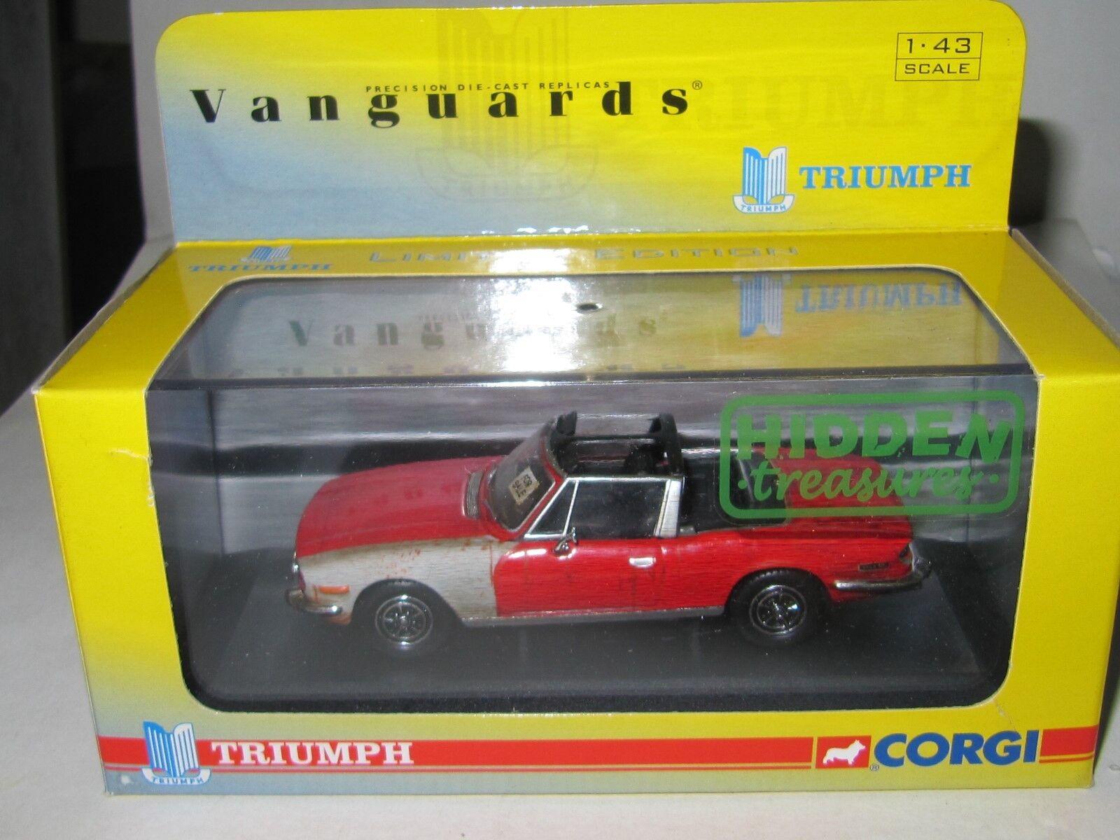 Corgi Vanguards - TRIUMPH STAG - PIMENTO RED VA10101 Mint Boxed