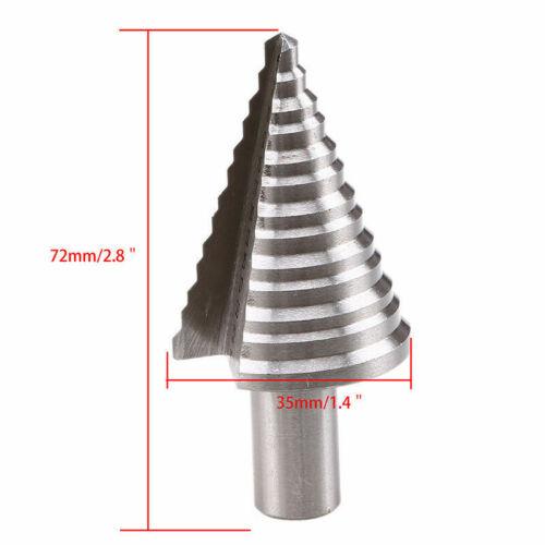 5-35 mm spirale à gorge conique Perceuse Haute Vitesse Acier Bit bricolage Trou Cutter Outil Pour Métal Bois