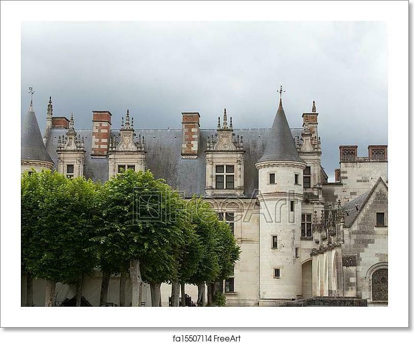 Amboise Castle. Valley Of The River Art Print Home Decor Wall Art Poster - J